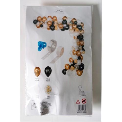 Композиция букет из надувных шаров (100шт)+скотч+лента+зажим