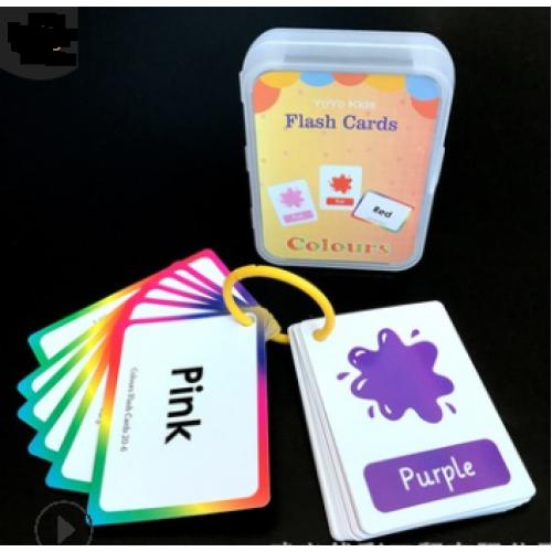 """Обучающие карточки по английскому """"Учим цвета"""", 62*88мм в пластик.кор."""