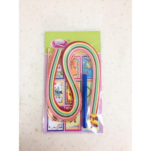 Бумага для квиллинга 5мм, 52см, 150пол., цвета микс+инструмент