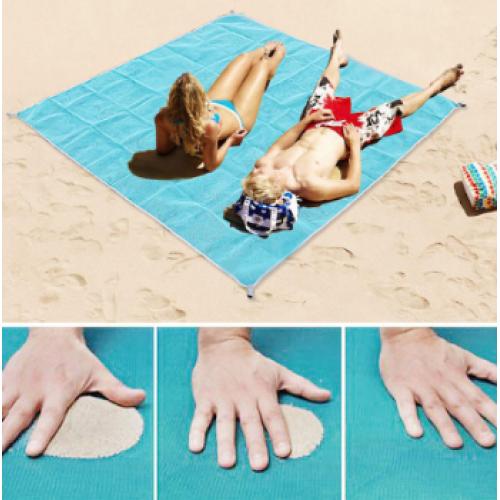 Пляжная подстилка АНТИ песок 2*2м (розовый, зеленый, желтый, коричневый)