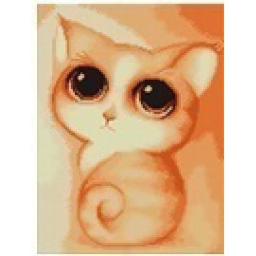 """Картина в технике алмазной живописи 20*30см """"Котенок с большими глазками"""""""