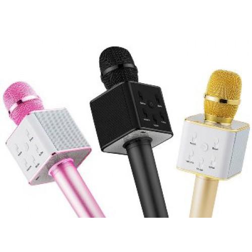 Микрофон-караоке bluetooth Q7 (в чехле), беспроводной
