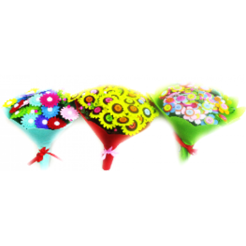 """Набор для творчества """"Сделай букет цветов из фетра и пуговиц"""""""