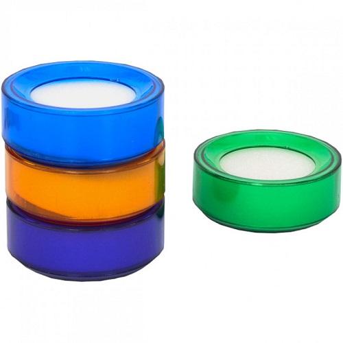 Губка для пальцев цветная Ø7см