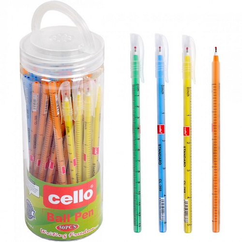 """Ручка шариковая на масляной основе 17,5см, 0,7мм, синяя """"Cello"""""""