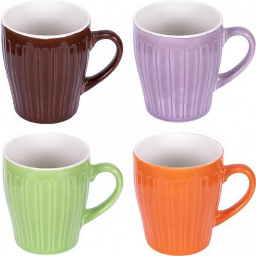 """Чашка """"Однотонная полоска"""" 250мл, h=9см, фаянс"""