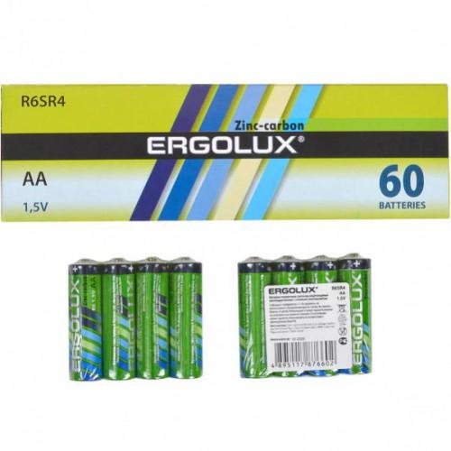 Батарейка Ergolux AA R6 SR4 зеленая