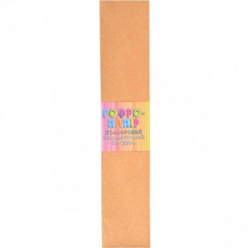 Гофрированная бумага 50*200см, ПЕРЛАМУТР золотая, 17г/м2 20%