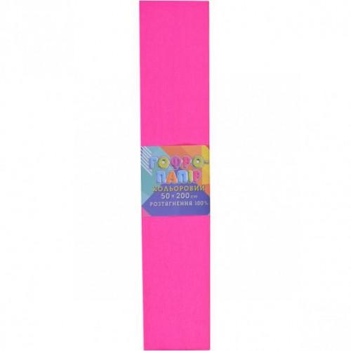 Гофрированная бумага 50*200см, розовая, 20г/м2 100%