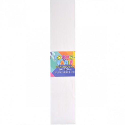 Гофрированная бумага 50*200см, белая, 20г/м2 100%
