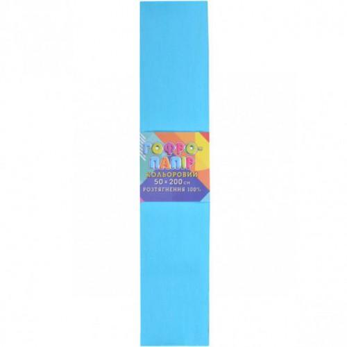 Гофрированная бумага 50*200см, светло-голубая, 20г/м2 100%