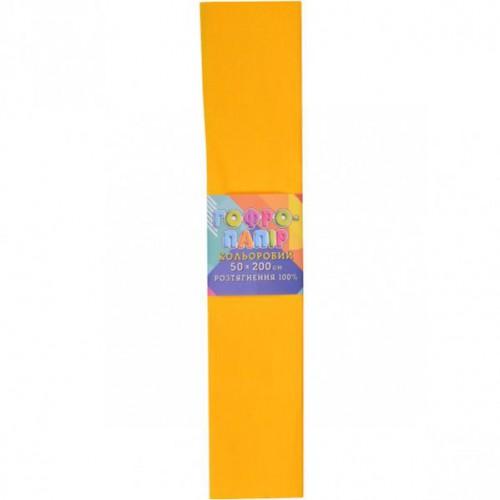 Гофрированная бумага 50*200см, темно-желтая, 20г/м2 100%