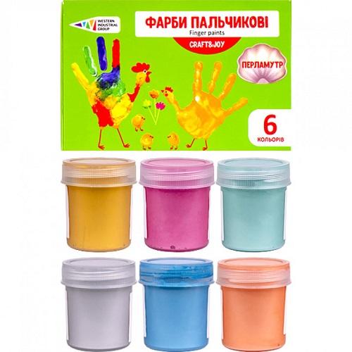 """Краски пальчиковые 6цв*40мл Craft and Joy """"Гамма"""""""