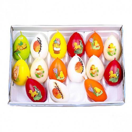 Свечка «Яйцо Пасхальное» большое 8,5*5,5см