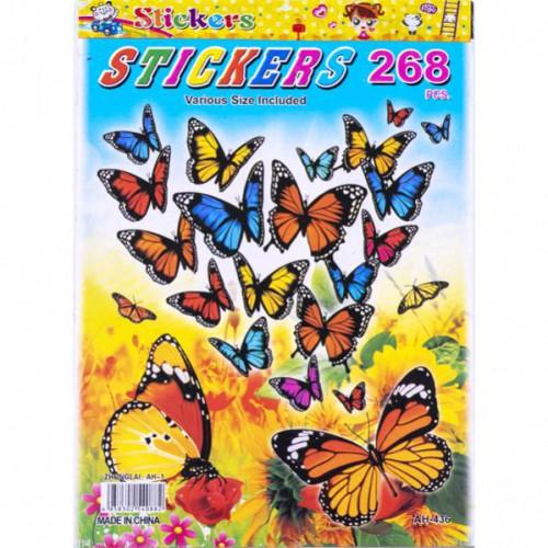 "Наклейка-книжка А5 ""Бабочки 1"", 6л"