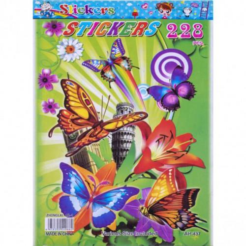 "Наклейка-книжка А5 ""Бабочки 2"", 6л"