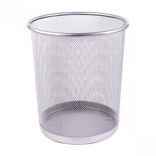 Корзина для бумаг металлическая сетка, 23*27*19см, серебро