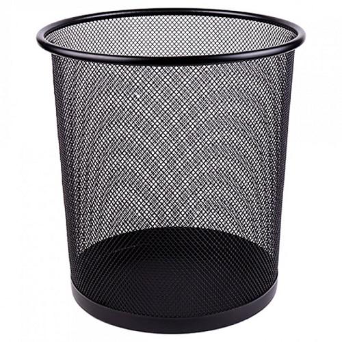 Корзина для бумаг металлическая сетка, 26*22*28, черная