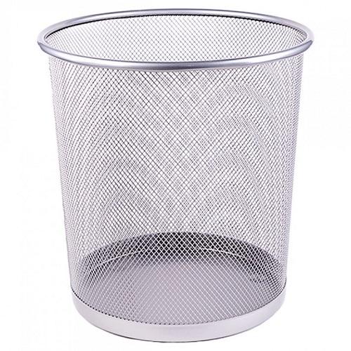 Корзина для бумаг металлическая сетка, 26*22*28, серебро