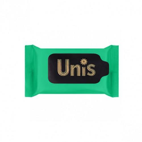 """Салфетки влажные антибактериальные """"UNIS"""" Perfume Green, 15шт"""