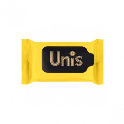"""Салфетки влажные антибактериальные """"UNIS"""" Perfume Yellow, 15шт"""