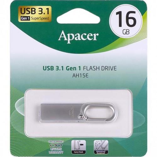 Флешка Apacer USB 16Gb AH15E Metal silver USB 3.1