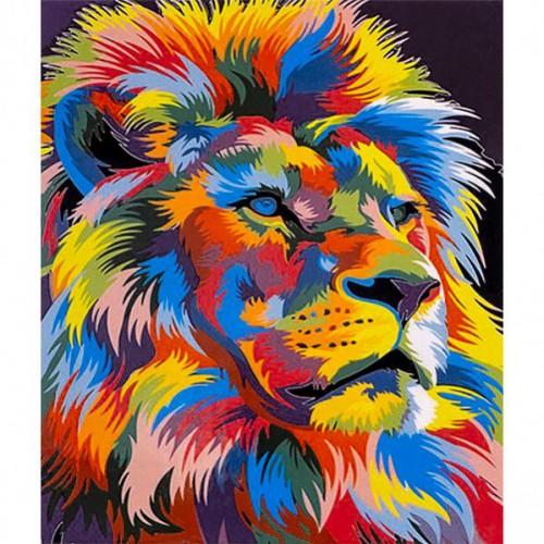 "Картина по номерам ""Яркий лев"" 40*50см"