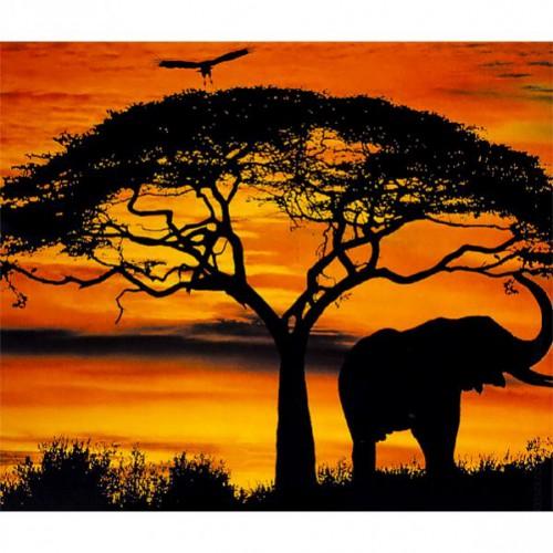 """Картина по номерам """"Вечерняя Африка"""" 40*50см"""