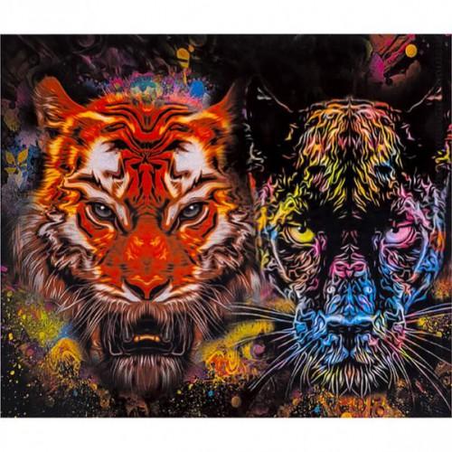 "Картина по номерам ""Тигр, Пантера"" 40*50см"