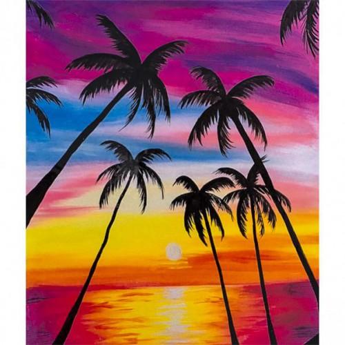 """Картина по номерам """"Пальмы"""" 40*50см"""