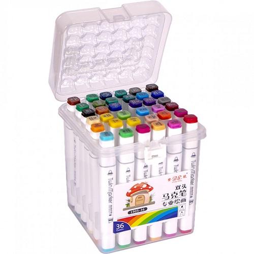 Набор скетч-маркеров 36цв пластиковом боксе