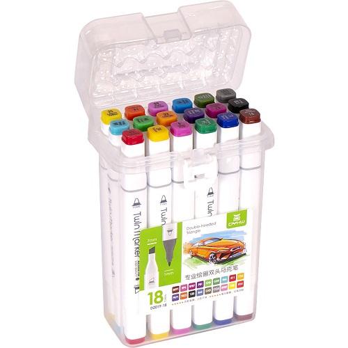 Набор скетч-маркеров 18цв пластиковом боксе