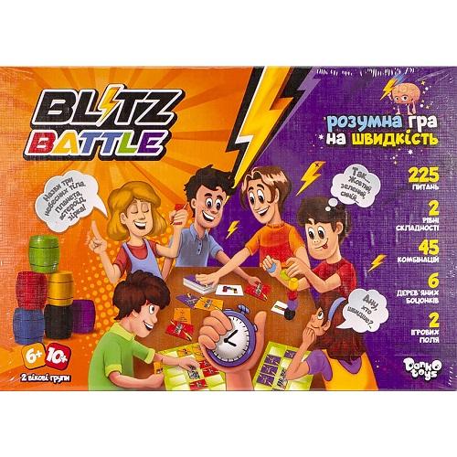 """Настольная развлекательная игра """"Blitz Battle"""" укр 6+/10+"""