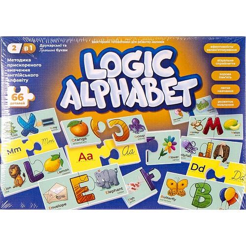 """Развивающие пазлы-ассоциации """"Logic Alphabet"""" англ/укр 3+"""