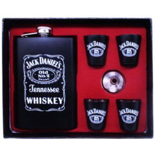 Набор Jack Daniels: фляга 270мл+4 рюмки+лейка