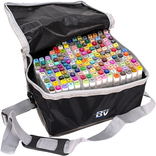 Набор скетч-маркеров 168цв в сумке