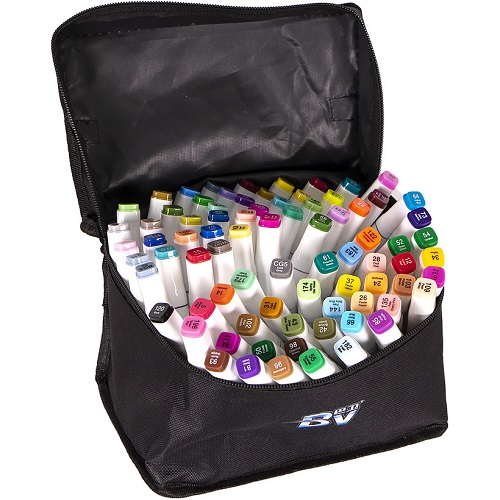 Набор скетч-маркеров 80цв в сумке