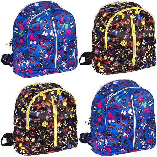 """Рюкзак для девочек Classic """"Бабочки"""" два цвета 32*26*14см"""