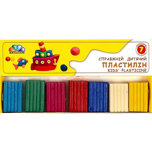 """Пластилин """"Улюблені іграшки"""" 7цв*70г  """"Гамма"""""""