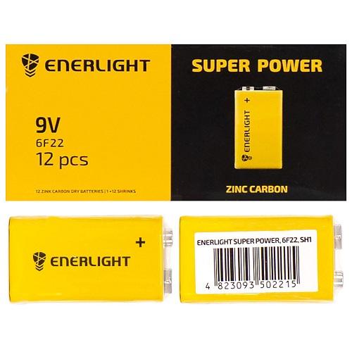 Батарейка ENERLIGHT 9V 6F22