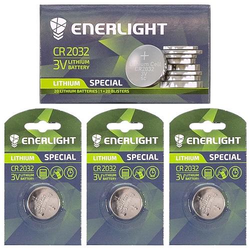 "Батарейка ENERLIGHT ""таблетка"" 2032"
