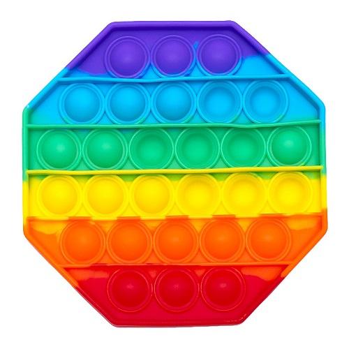 """Игрушка антистресс Pop It  """"Радужный многоугольник"""" 12*12см"""