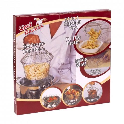 Складная сетка для варки, жарки и фритюра Chef Basket