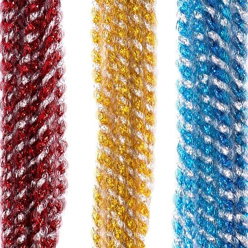 """Мишура """"Фонарик спиральный 2хцветный"""" Ø1,5см, 2,4м (в связке 10лент=одного цвета)"""