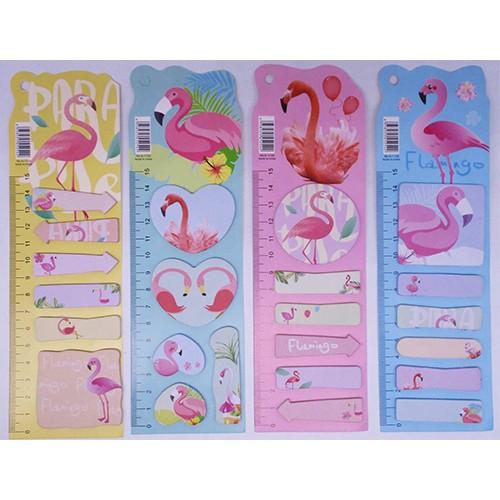 """Бумага д/заметок + стикер-заклад.""""Фламинго"""" 20л (5шт)"""