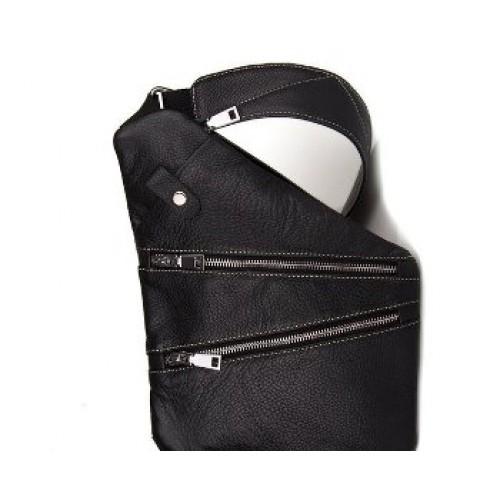 Мужская сумка Cross Body 30*24см, кожа, черная