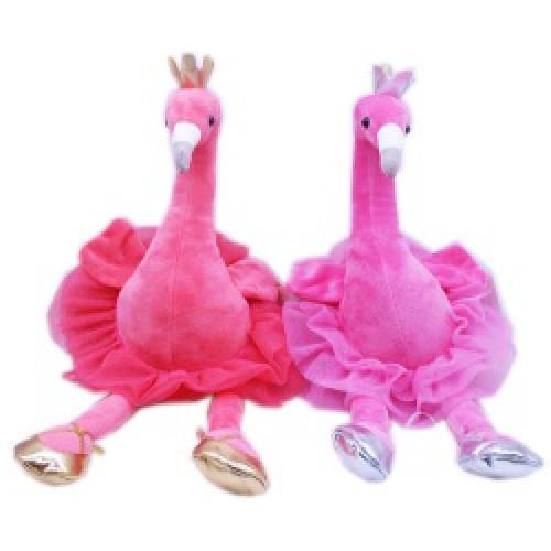 "Игрушка мягкая ""Фламинго балеринка"" 27*13см"
