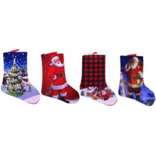 """Носок для подарков """"Новогодний принт"""" 22*16см"""