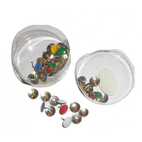 Кнопки метал.цветные (80шт)