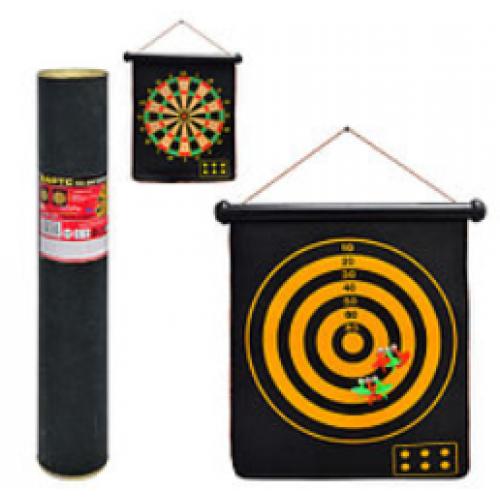 Игра дартц с магнитными дротиками 6шт. 46*36.5см двусторон.в тубе